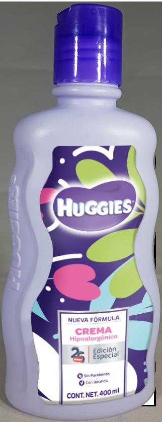 Huggies Hypoallergenic Cream Label